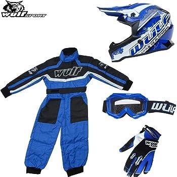 Leopard LEO-X16 Green Kids Motocross Helmet XL 55cm XL 11-12 Yrs XL 8cm /& Gloves /& Goggles /& Camo Motocross Suit Jacket