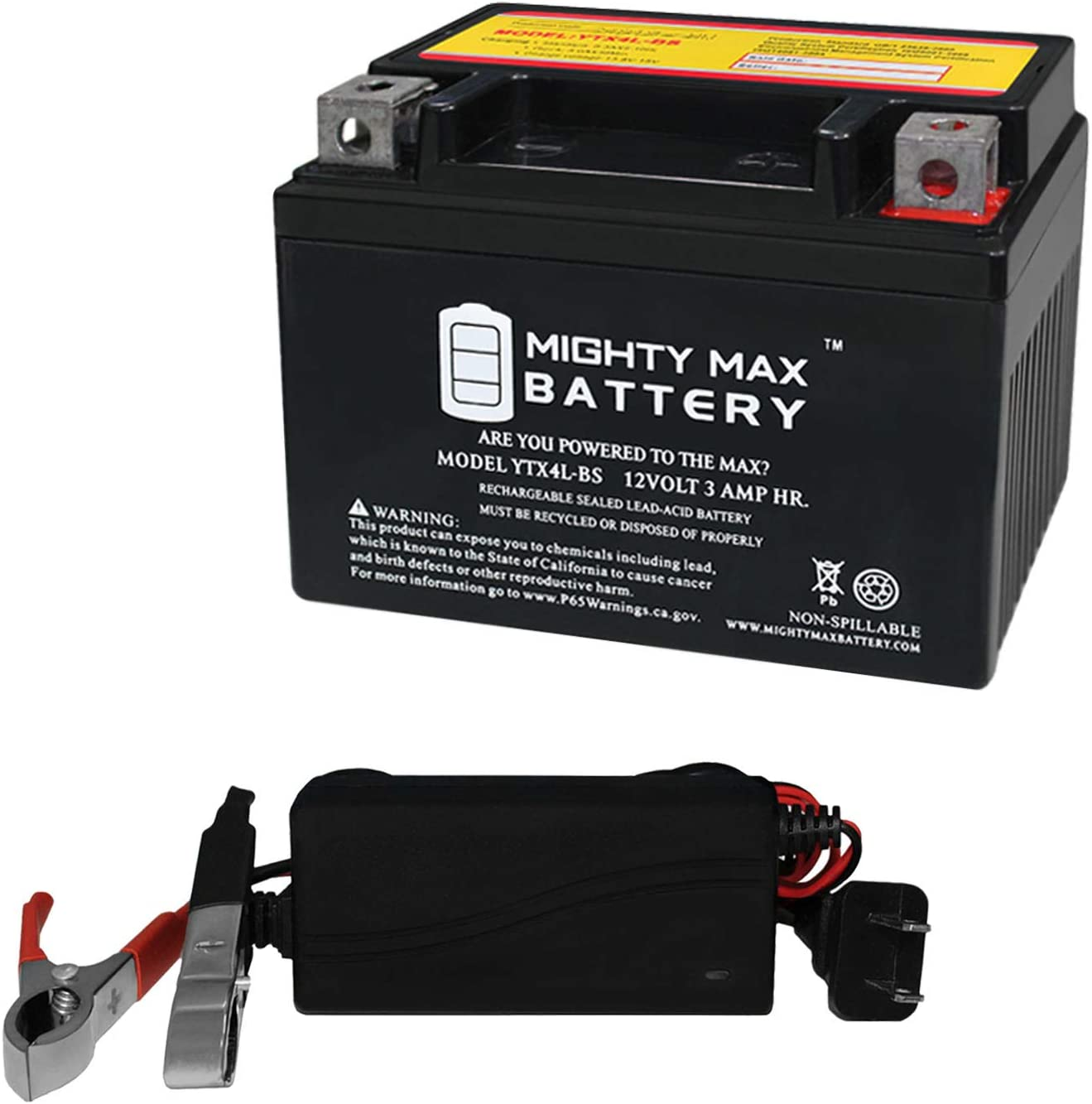 Mighty Max Battery YTX4L-BS Replaces ATV OUTLET SALE 7 Bike Dirt Pit Quad メーカー直送 50