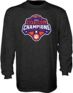 Clemson Tigers National Champs Long Sleeve Tshirt 2018-2019 Charcoal Icon