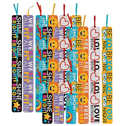 Fun Express Be You Laminated Bookmarks | 48 Count | Great for Birthday Parties, Classroom Rewards, Favors, and Prizes