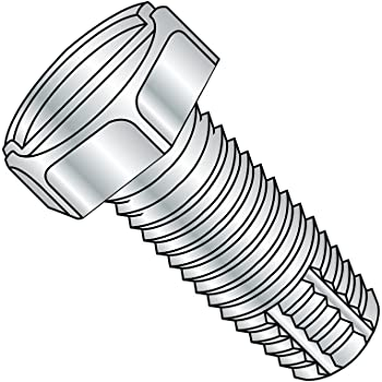 1//4-20 Thread Size Slotted Drive 1//4-20 Thread Size 3 Length Zinc Plated Finish Type F Pack of 600 Small Parts 1448FSP Steel Thread Cutting Screw 3 Length Pack of 600 Pan Head