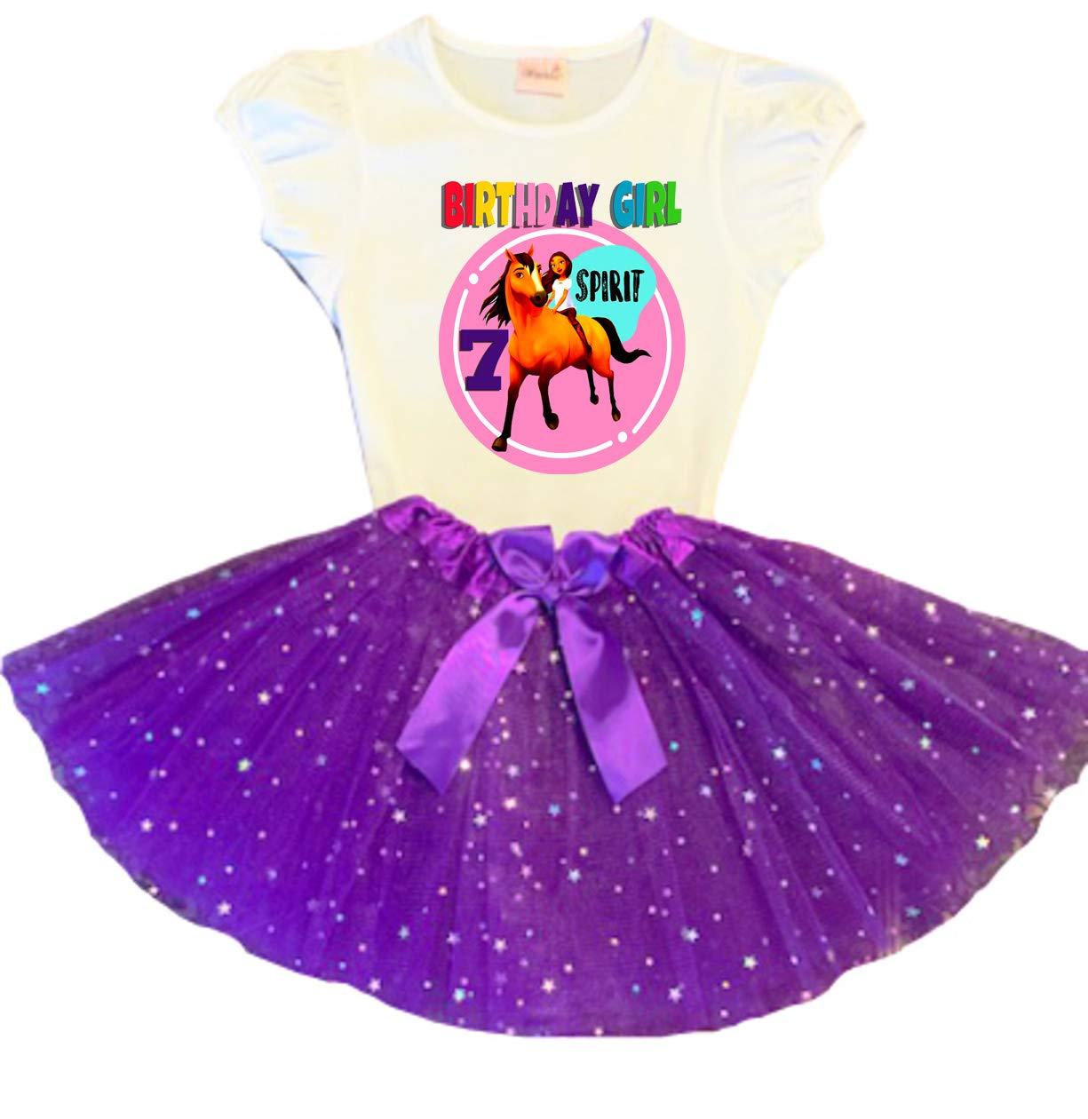 Spirit Animer and price revision Riding Free Birthday Tutu 7th Purple Party Translated Dress