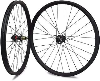 Sywtz 27.5er MTB Carbon Wheelset Hookless/Asymmetric Tubeless for DH/AM/XC/Enduro Mountain Bike 650B Wheelset 24/27/30/35/40mm Width