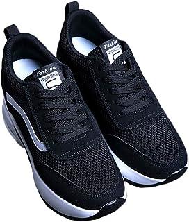 [CAIXINGYI] 高揚靴 女性 春 スニーカー 白い靴 韓国 ワイルド 靴 22?24.5cm 夏 レディースシューズ ハイヒール 余暇 ファッション 増高 学生 通勤