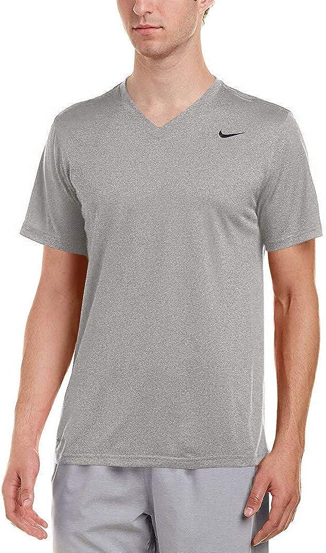 Nike Mens Legend Cash special price V-Neck Training Heather Carbon T-Shirt 62 Award Black