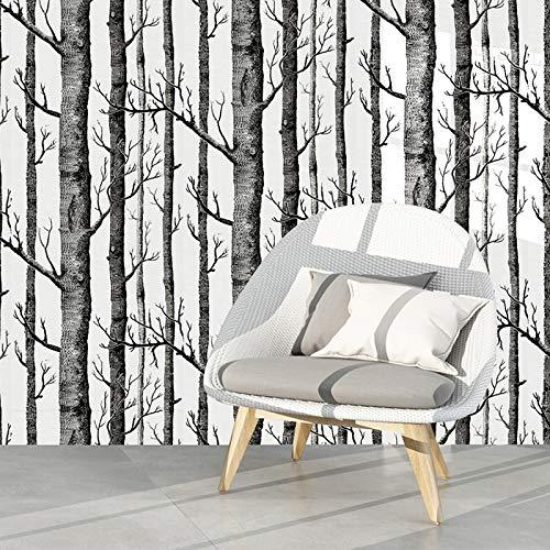 Henreal Tapete Birke,Selbstklebende Tapete, Birkenbaum Tapete, Tapete schlafzimmer, Tapete wohnzimmer, Modern Decor Wall Paper Birkentapete für Schlafzimmer Wohnzimmer(6*0.45m,Selbstklebend)