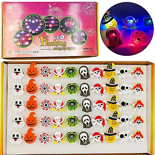 Halloween Anello Bambina BESTZY 30pcs Anelli Bambin Perfetto per i Bambini Favori di Festa Compleanno Teschio Zucca