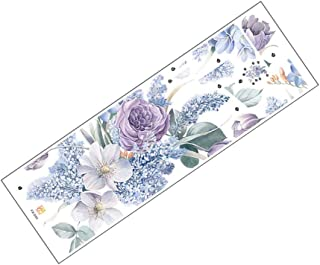 WINOMO Blomma väggdekaler romantisk blommig dekorativ dra pinne väggkonst klistermärke avtagbar väggmålning för hem sovrum...
