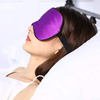 onlyer Sleep Mask, Natural Silk Filled Sleep Eye Mask for Sleeping Aids,with Carry Pouch,Lightweight & Comfortable and Adjustable for Travel, Nap, Shift Works, for Men,Women and Kids Birthday Gift