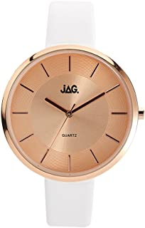 JAG Women's J2058 Year-Round Analog Quartz White Watch