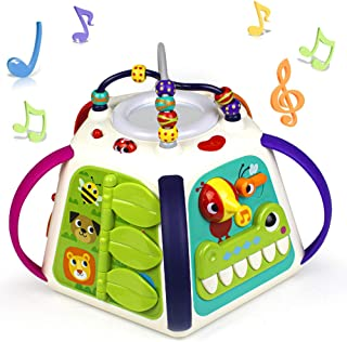 Woby Activity Cube 18-in-1 Educational Toddler Baby Toy Musical Game Play Center with Sounds and Lights,Lots of Functions ...