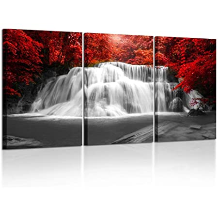 Amazon Com Wieco Art The Cloud Tree Wall Art Oil Paintings Giclee Landscape Canvas Prints For Home Decorations 3 Panels Posters Prints