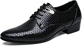 2019 Mens New Lace-up Flats Formal Shoes Microfiber Leather Lace Up Style Fashion Classic Texture Metaldecor Oxford Shoes for Men