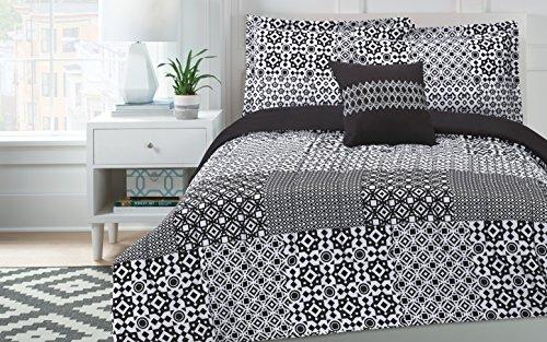 SOHO juviminisp Sohu Patchwork Mini Comforter Set, Negro, Full