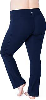 Rainbeau Curves Women's Plus Size Curve Basix Compression Bootcut Legging