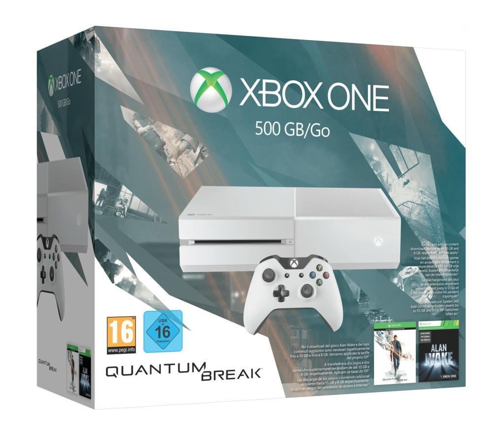 Microsoft Xbox One 500GB Special Edition Quantum Break Bundle 500GB Wifi Color blanco - videoconsolas (Xbox One, 8192 MB, DDR3, AMD Radeon, Unidad de disco duro, 500 GB): Amazon.es: Videojuegos