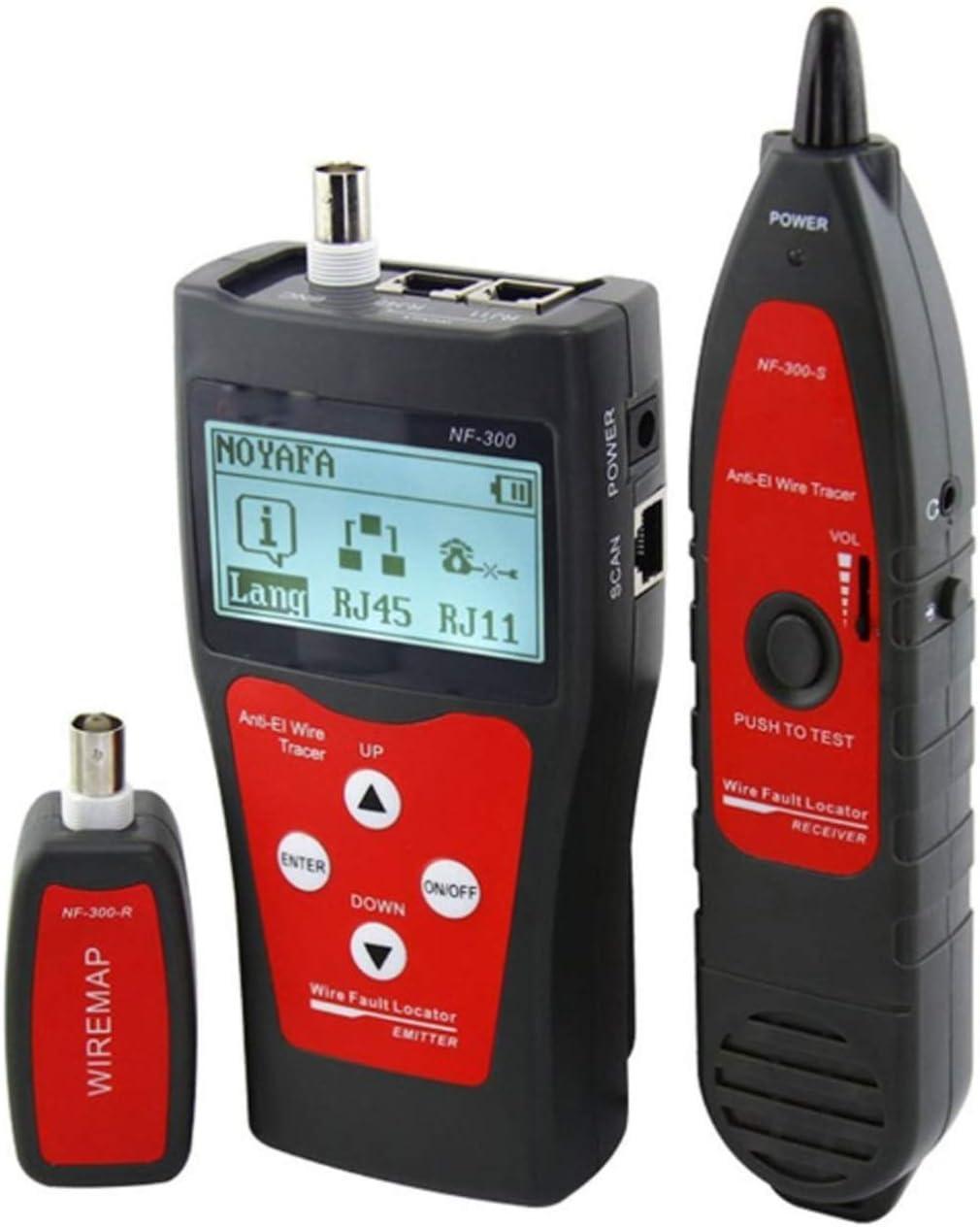 YXZQ 40% OFF Cheap Sale Regular store Line Finder NF-300 Professional Lengt Tester Cable LAN RJ45