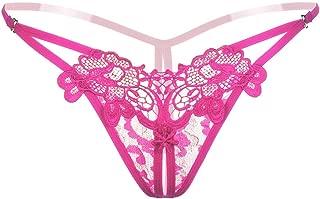 SUKIRIYA Women Sexy Panties Cheeky Floral Y-Back G-String