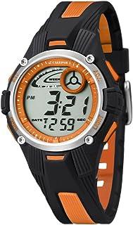 Calypso - K5558/4 - Montre Garçon - Quartz - Digitale - Eclairage-Chronomètre-Temps intermédiaires-Alarme - Bracelet Caout...