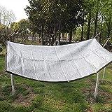 WZF Pantalla en Tela de Aluminio Reflectante 85% de protección UV Toldos Cubierta para Redes de jardín para Flores Césped (Dimensiones: 2x2M)
