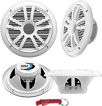 $89 » BOSS Audio Systems MR6W Marine Speakers Surround Sound 4-Pack, 180 Watt Per Pair, 6.5 Inch, Full Range, 2 Way Weatherproof...