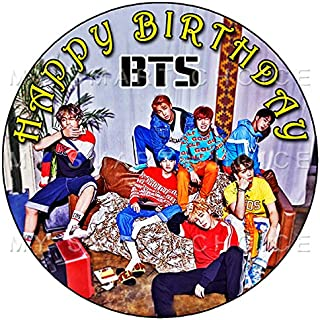 7.5 Inch Edible Cake Toppers – BTS 2 Themed Birthday Party Collection of Edible Cake Decorations