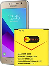 Galaxy J3 Battery, Euhan 3400mAh Li-ion Replacement Battery for Samsung Galaxy J3 J320A J320V J320F J320P J327A J327P EB-BG530BBC EB-BG530BBE SM-G530,Galaxy On5 Battery,Galaxy Grand Prime Battery