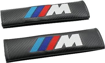 Carbon Fiber M-Tech Sports Style Car Seat belt Cover Shoulder Pads For BMW 1-Pair