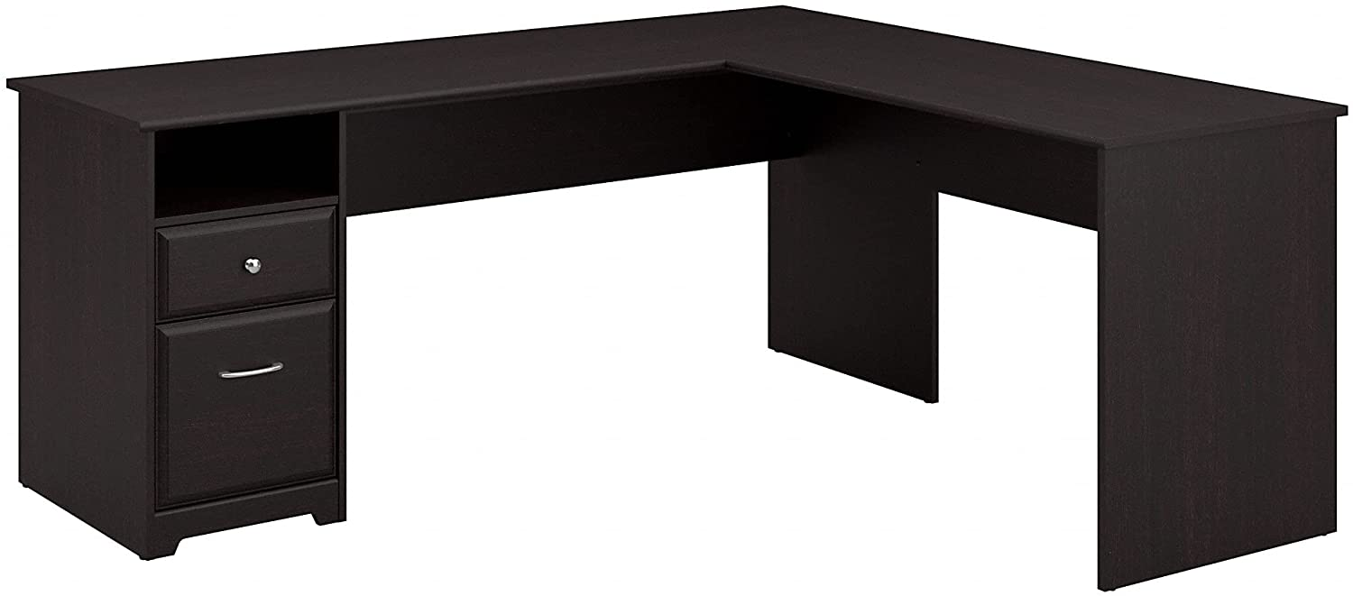 Bush Furniture Cabot Ranking TOP9 72W L Spasm price Shaped with in Drawers Computer Desk