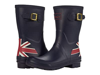 Joules Molly Welly (Navy Union Jack) Women