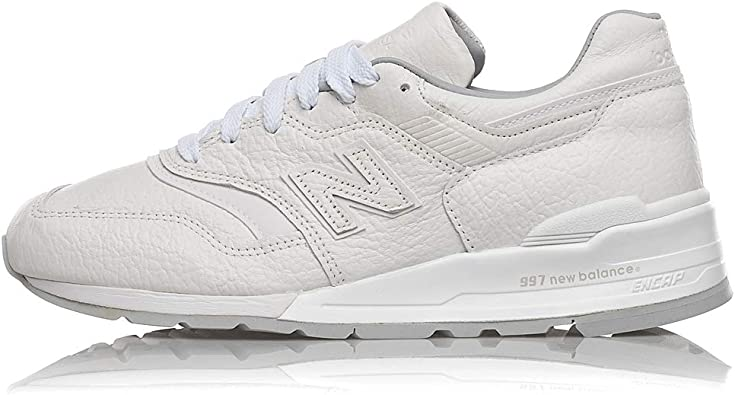 Amazon.com   New Balance 997 Made in USA Triple White Leather ...