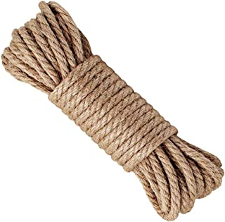 Hemp Rope,6mm Thick Jute Rope,Natural Strong Hemp Rope Cord Jute Twine for Arts Crafts DIY Decoration Gift Wrapping Garden, Boating, Pets,Multi-Purpose Utility Hemp Twine Rope