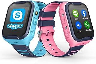 TTSLVS Reloj Inteligente para niños Reloj GPS Pulsera GPS, Reloj Inteligente para niños con r Llamada de Emergencia, para ...