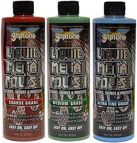 Gliptone Coarse Medium Ultra Fine Metal Liquid スーパーセール Polish B Grade 与え