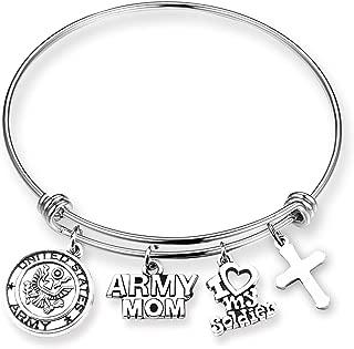 Military Mom Gift Army Mom Bracelet Army Navy Marine Mother Jewelry Navy Marine Bracelet Gifts for Women …