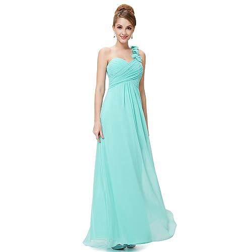 1ab8662ec9 Ever-Pretty Flower One Shoulder Empire Waist Floor Length Bridesmaids Dress  09768