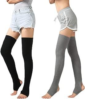 2Pack Unisex Adult Over Knee Thermal Leg Warmer Protector Socks For Dancing Yoga