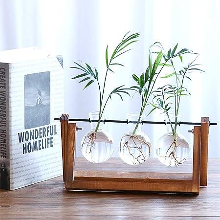 Glass Hydroponic Flower Vase Plant Pot Terrarium Container Decor 1//2//3 beakers