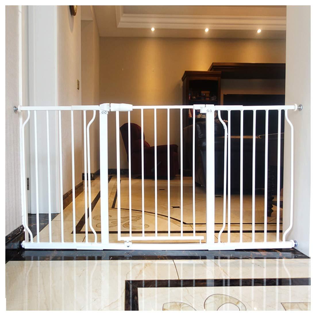 Extensible Metal Puerta de Seguridad para Puertas y Escalera Ajuste de Presión, Sin Perforación, Auto Cerrado Pet Gate Escalera Bebé Puerta de Seguridad 70cm - 85cm Portón con Extensiones: Amazon.es: Hogar