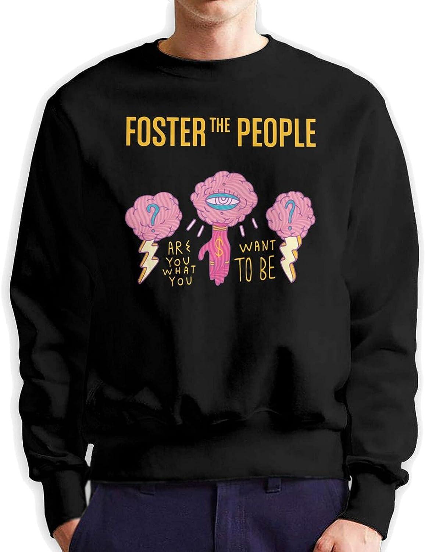 Foster The People Men'S Long Sleeve Printed Sportswear Cotton Black