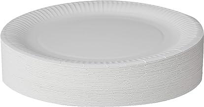 Extiff Set di Piatti tondi in Cartone Bianco biodegradabile /Ø 23/cm