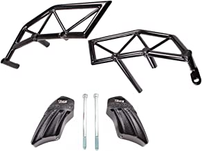 T-Rex Racing 2013-2018 Honda Grom MSX125 Engine Guard Crash Cages Black Bars - Black Pucks