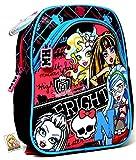 Monster High – Fright ON – Zaino per asilo/asilo – per il contenitore del pane/borraccia – Zaino per la scuola materna.