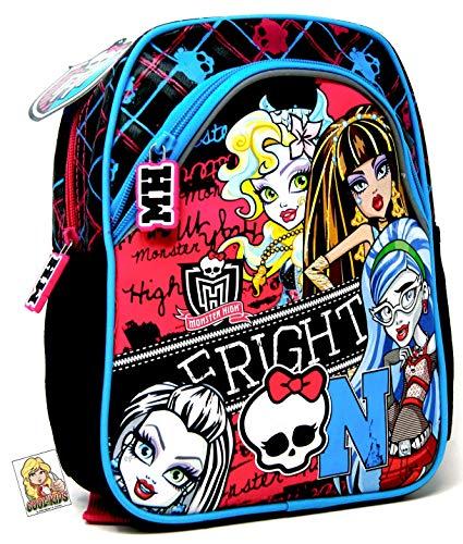 Monster High Fright ON - Mochila de guardería para la fiambrera o botella de agua + Art Sticker #3 - Mochila preescolar