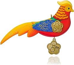 Hallmark QX9179 12 Days of Christmas Five Golden Rings Pheasant Ornament