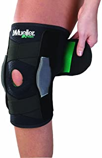 Mueller Green Adjustable Hinged Knee Brace, Black/Green, One Size Fits Most | Mueller Green is made from recycled materials