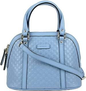 Gucci Women's Light Blue Guccissima Leather Mini Crossbody Dome Bag 449654