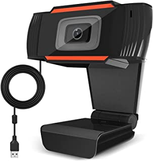 720P Webcam HD PC Desktop Camera with Absorption, Microphone MIC for Skype for Android TV,30fps Rotatable Computer Camera USB Laptop Web Cam