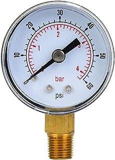 Medidor de presi/ón de agua Newtool de corriente 0-10bar con 1,91 cm BSP montaje