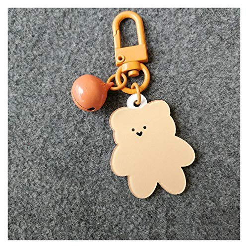 Jfsmgs Couple Keychains Korean Version of The Cute Gummy Keychain Bear Acrylic Package Pendant Student Key Chain Apple Decoration Keyring Plastic (Color : 2)